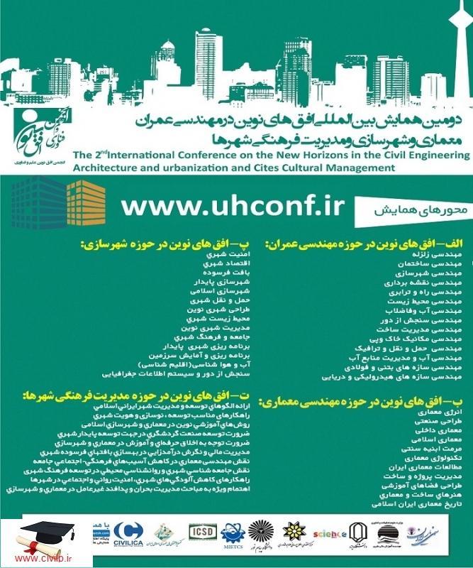 دومین همایش بین المللی افق های نوین در مهندسی عمران، معماری و شهرسازی و مدیریت فرهنگی شهرها